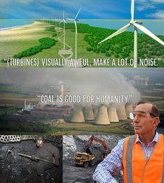 """Saying wind farms have """"potential health impacts"""" whilst praising coal which is toxic - is literally INSANE! #AusPol"""