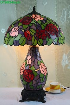 Rose Tiffany Lamp 16S0-216T2001