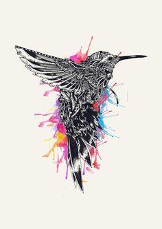 HummingBird Art Print by Efan   Society6