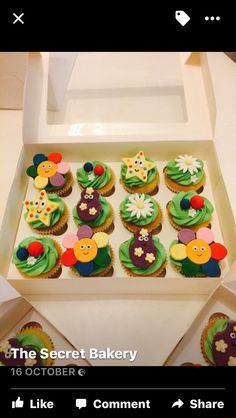 In The Night Garden cupcakes Garden Birthday Cake, 1st Bday Cake, Birthday Lunch, Birthday Cupcakes, First Birthday Parties, Birthday Party Themes, 2nd Birthday, Birthday Ideas, Cupcake Party