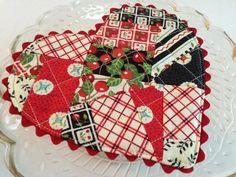Be My Valentine Heart Mug Rug Pattern   Craftsy