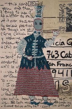 "Tricia Goldberg (USA), ""Postcard for Angela,"" 60"" x 39"" woven tapestry, ATB 9"