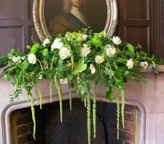 We were back at Chiddingstone Castle week before last, and it looked very beautiful with the great hall filled with flowers. Amaranthus, Wedding Flowers, Castle, Wreaths, Plants, Beautiful, Fireplaces, Home Decor, Shower