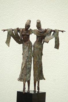 Rieke van der Stoep, works with brass and stone.  - Artodyssey: sculpture