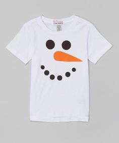 Look what I found on #zulily! White Snowman Tee - Infant, Toddler & Boys by The Princess and the Prince #zulilyfinds