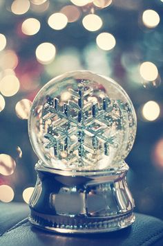 Cutest little snowglobe ever!...Starting to feel the Christmas vibe...x #snowglobe #christmas