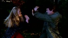 Xander and Harmony's epic slap battle. One of the best parts of the whole series.