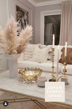 The Largest Pampas Grass Company online Small Condo Living, Condo Living Room, Glam Living Room, Formal Living Rooms, Small Living Rooms, Home And Living, Living Room Designs, Living Room Decor Inspiration, Decorating Coffee Tables