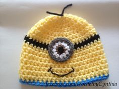 crochet hat- despicable me minion inspired