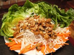 Lettuce Wraps - I love these things!  Best made with Boston Bibb lettuce, as it is pliable, making them easy to wrap.  Yummy!