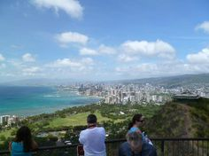 """A major tourist attraction on Oahu, the 350-acre Diamond Head crater can be seen even from the flight into Honolulu airport.   Its vantage point offers some incredible panoramas of Honolulu that you will not be able to find anywhere else.    * """"not for the faint of heart"""" *"""