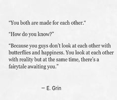 You both are made for each other