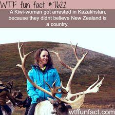 Kiwi-woman detained in Kazakhstan - WTF fun facts