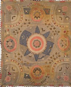 Wool Applique Quilt detail, 1830. New England. Classic Quilts from the American Museum in Britain.