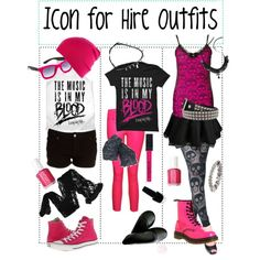"""""""Ariel Bloomer (Icon For Hire) Inspired Outfits"""" by abbyrration on Polyvore"""
