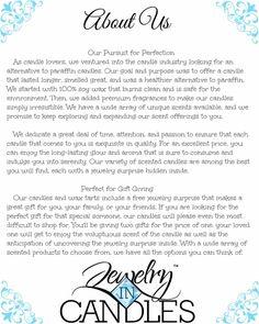 JEWELRY IN CANDLES PRODUCTS https://www.jewelryincandles.com/store/jenniferzaner