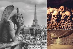 Mission GRUSEL: Die Katakomben von Paris ähneln einem gigantischen Steinbruch, der ab 1785 als letzte Ruhestätte für tausende von Menschen diente. Neugierig?