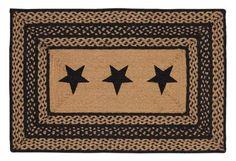 "Country Style Black Tan Jute Rug Rect Stencil Stars 24x36"" VHC Brands sold by Olivia's Heartland http://www.amazon.com/dp/B00CVJ1SZE/ref=cm_sw_r_pi_dp_W8CVub1HVJF04"