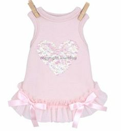 Dog Dress By Louis Dog French Heart Pink