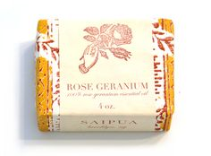 rose geranium soap from Pink Olive - $12.00