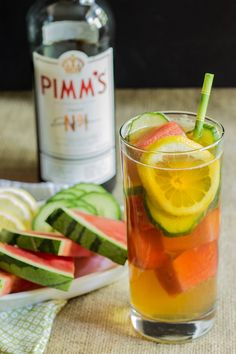 Watermelon Ice Pimm's Cup
