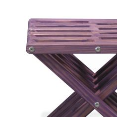 Stool X30 - Purple Berry The Stool X30 is attractive, functional, durable, eco friendly and 100% made in the USA! This sturdy sitting stool arrives partially assembled at your home needing only a final touch to be ready for use! Conceived by the Brazilian designer Ignacio Santos, the Stool X30 is crafted from Eco Friendly Premium Yellow Pine wood from Alabama, stainless steel and built to last a life time if well taken care of.