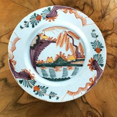 18th Century London Delft Plate English Earthenware William Griffiths 1740 1760  £56