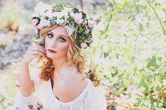 floral crown   Christina Carroll Photography