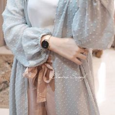 Tomorrow will be ready stock ! One of best seller colors dusty mint just limited stock left . Grab yours now. Tomorrow will be ready stock ! One of best seller colors dusty mint just limited stock left . Hijab Style Dress, Casual Hijab Outfit, Hijab Chic, Hijab Dress Party, Hijab Mode, Mode Abaya, Abaya Fashion, Modest Fashion, Fashion Dresses