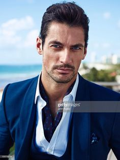 Model David Gandy is photographed for Esquire Latin America on July 1, 2015 in Miami, Florida. Wearing a silk neckerchief.