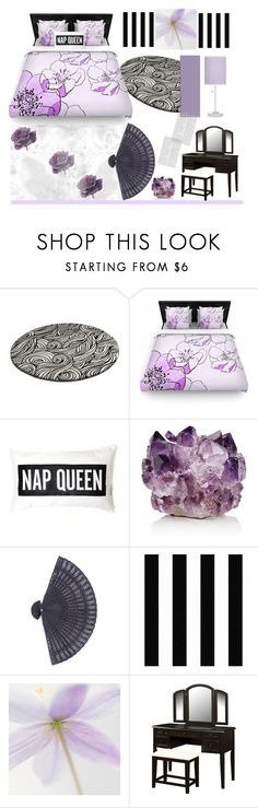 """""""Wild Rose'"""" by dianefantasy ❤ liked on Polyvore featuring interior, interiors, interior design, home, home decor, interior decorating, McCoy Design, Graham & Brown, Powell Furniture and purple"""