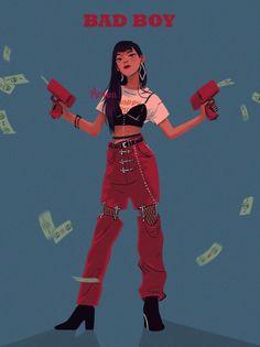Seulgi from Red Velvet Kpop Drawings, Cute Drawings, Drawing Faces, Cartoon Kunst, Cartoon Art, Arte Fashion, Kpop Fanart, Aesthetic Art, Art Sketches
