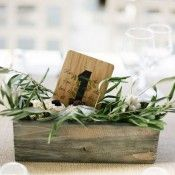 love the reclaimed wood look mixed with herbs