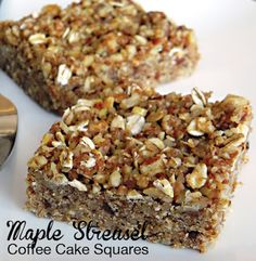 Maple Streusel Coffee Cake Squares from Practically Raw Desserts by Amber Shea Crawley