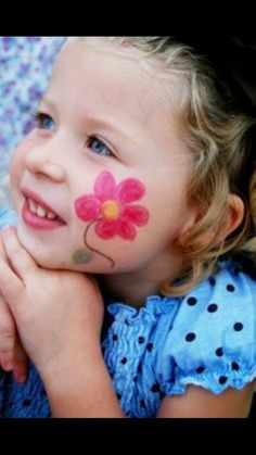 face painting, flower