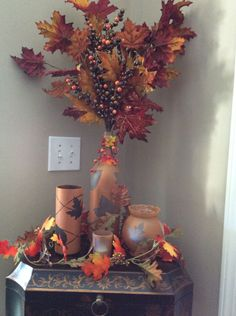 How to Make Fall Decorations Out of Wine Bottles