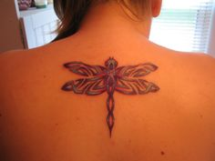 Back Celtic Dragonfly Tattoo Designs