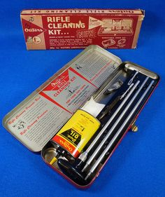 1960's Outers Rifle Cleaning Kit 30 Cal. 477 with Gun Oil Tin in ORIGINAL Box To see the Price and Detailed Description you can find this item in our Category Vintage Sporting Goods, Hunting on eBay: http://stores.ebay.com/tincanalley1/Vintage-Sporting-Goods-Hunting-/_i.html?_fsub=19469222018  RD14577