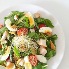 I Love Health | Proteïne salad with smoked chicken, egg and courgette recipe | http://www.ilovehealth.nl