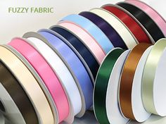 Double Faced Satin Ribbon  Unique material for any #decoration, scrap booking, #craft projects & etc.,  http://www.fuzzyfabric.com/ribbon/satin-ribbon/satin-ribbon-double-face