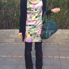 Floral Hijab Fashion