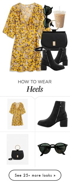 """Untitled #7110"" by laurenmboot on Polyvore featuring Monki, Ray-Ban and MANGO"