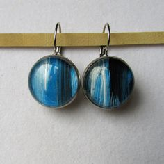 Drop Earrings, Blue, Painting, Jewelry, Jewlery, Bijoux, Painting Art, Schmuck, Drop Earring