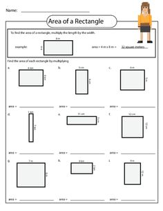 Practice finding the area of a rectangle with this free worksheet! #area…