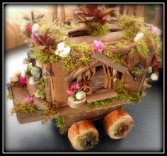for comfort travel, fae folk sometimes travel in style with a caravan when they have collected lot's...
