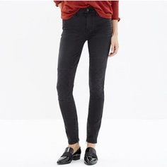 Madewell high riser skinny patch jeans black New with tags high rise skinny jeans in black by madewell Madewell Jeans