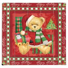 "Plank-style wood wall decor with a teddy bear design and script detailed trim.   Product: Wall decorConstruction Material: WoodFeatures: Ready to hangDimensions: 13"" H x 13"" W"