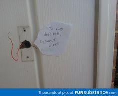 """""""Fixing"""" the doorbell"""