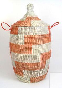 Basket Hamper- Handmade from Africa by PangeaShoppe on Etsy https://www.etsy.com/listing/503333431/basket-hamper-handmade-from-africa