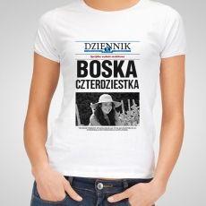 Koszulka personalizowana damska DZIENNIK URODZINY